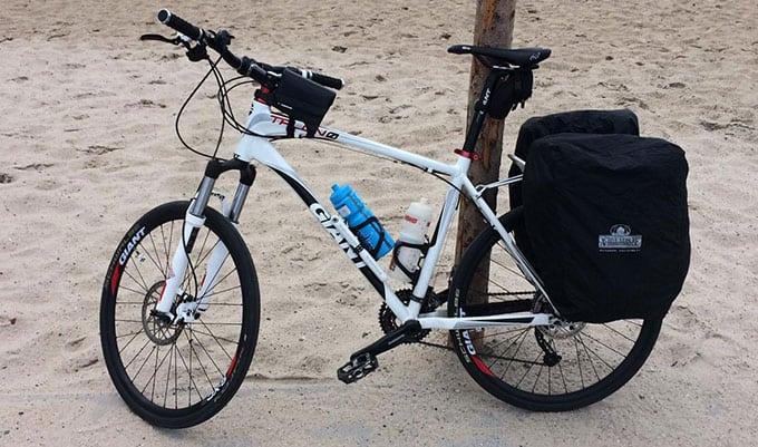Mountain bike for road touring
