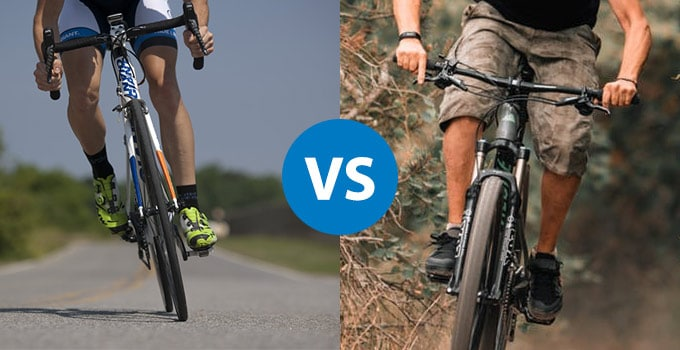 mountain biking vs road biking