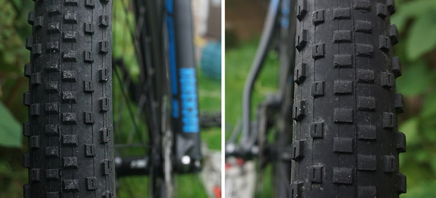 new vs worn out mountain bike tires