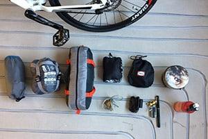 bikepacking gear set