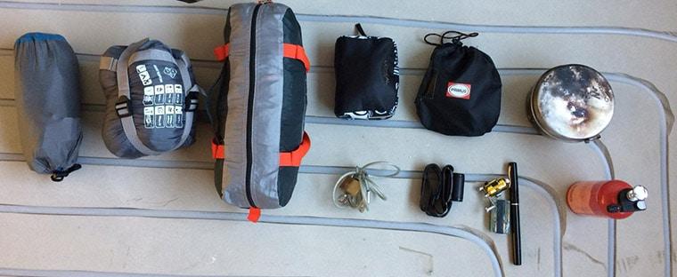 bikepacking lightweight gear set