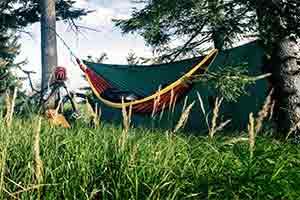 bikepacking with a hammock and tarp
