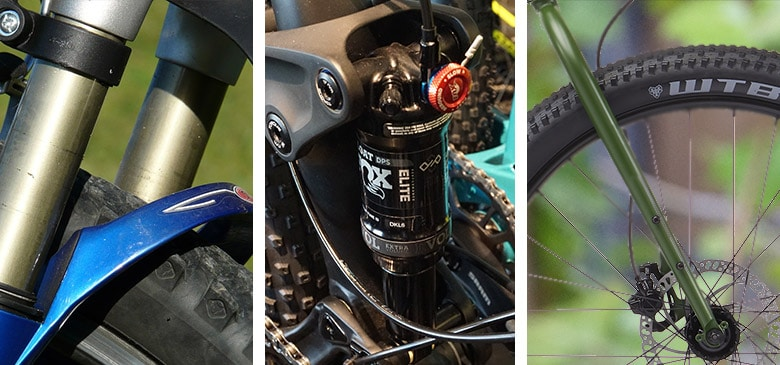 hardtail vs full suspension vs fully rigid mountain bike