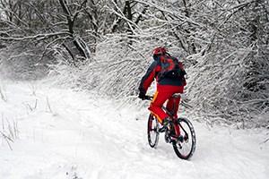 mountain biking in cold weather