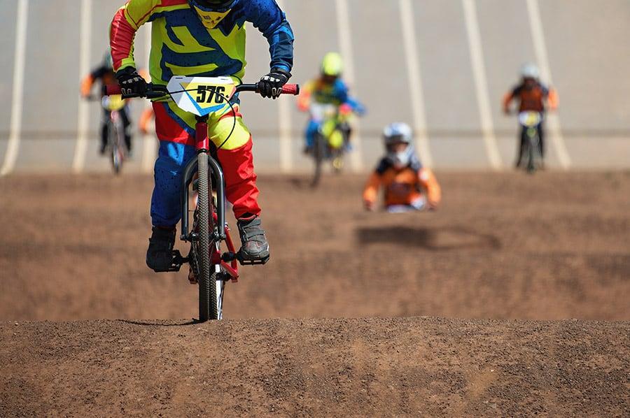 BMX bikes on a track