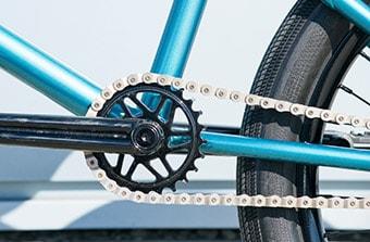bmx chain close up