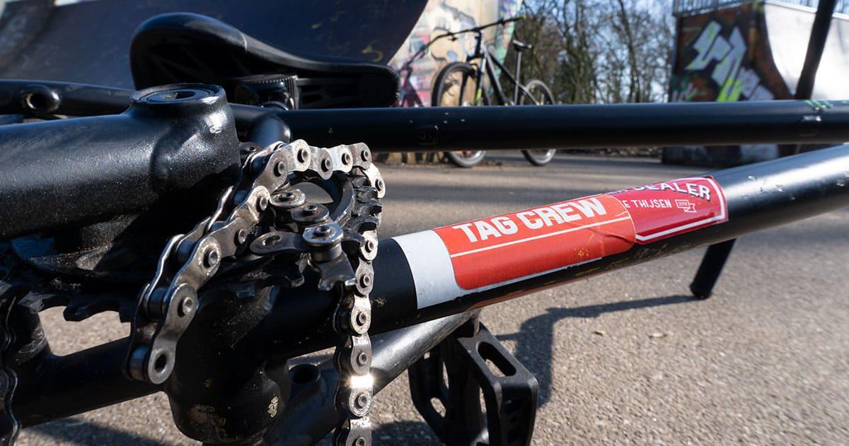 broken BMX chain